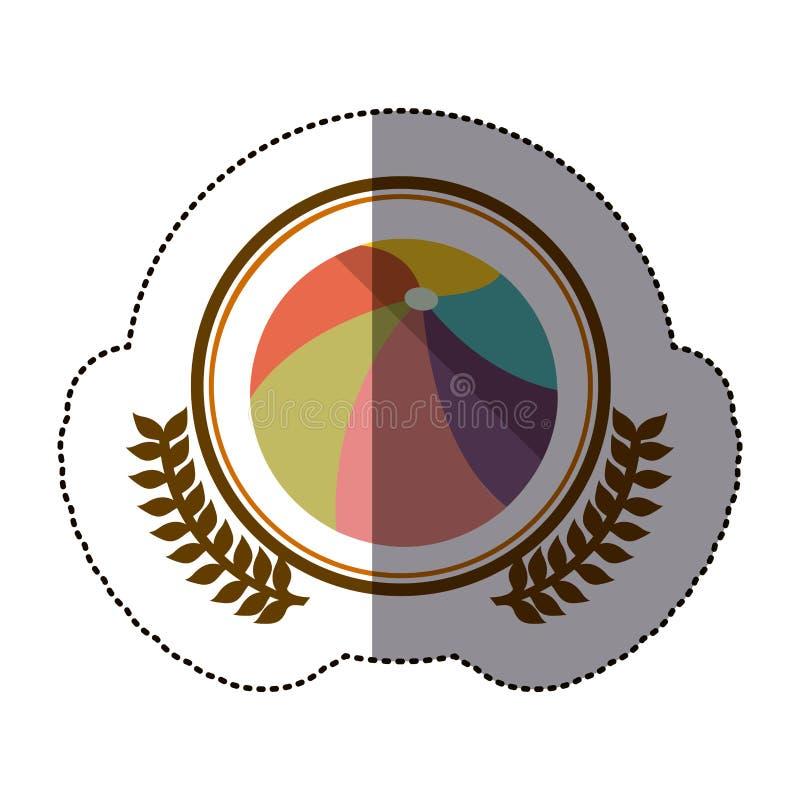 pictogram van de symbool het opblaasbare bal vector illustratie