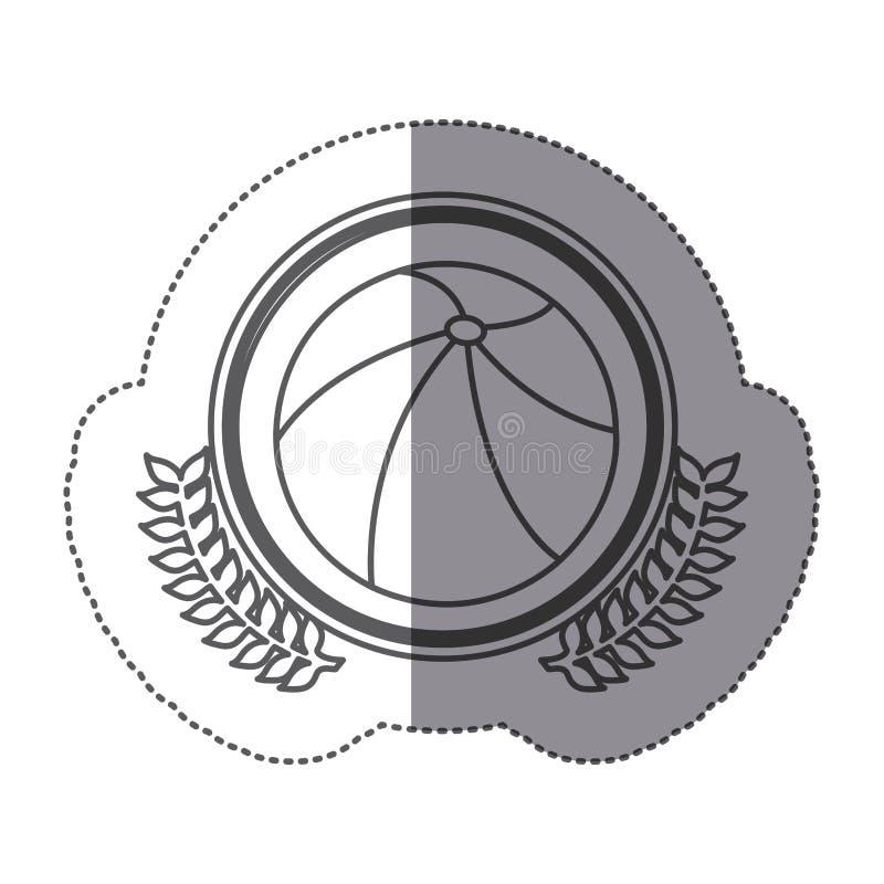 pictogram van de symbool het opblaasbare bal royalty-vrije illustratie