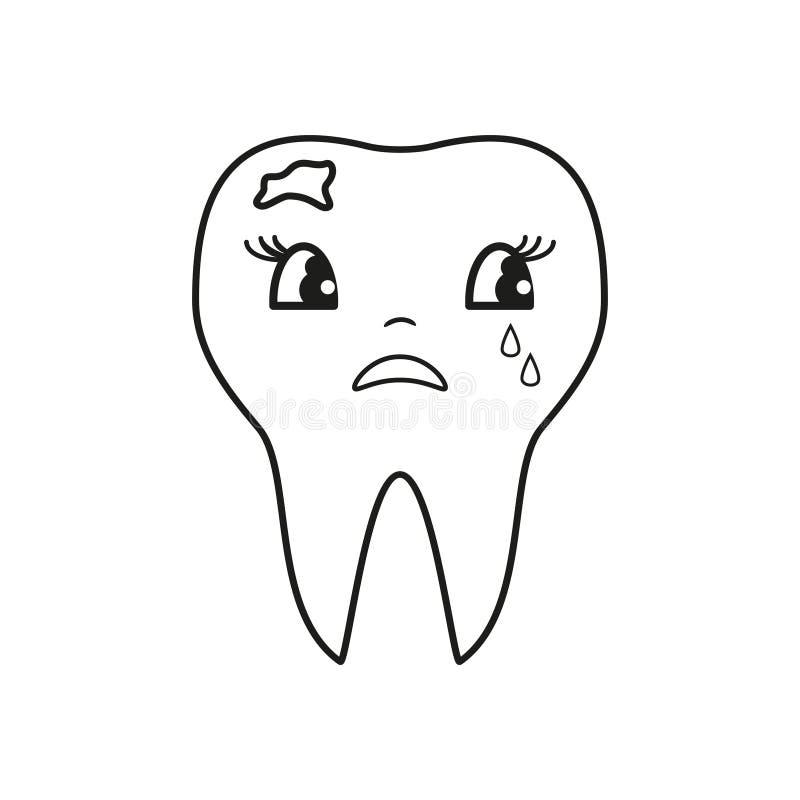 Pictogram van de tanden het slechte schreeuw royalty-vrije illustratie