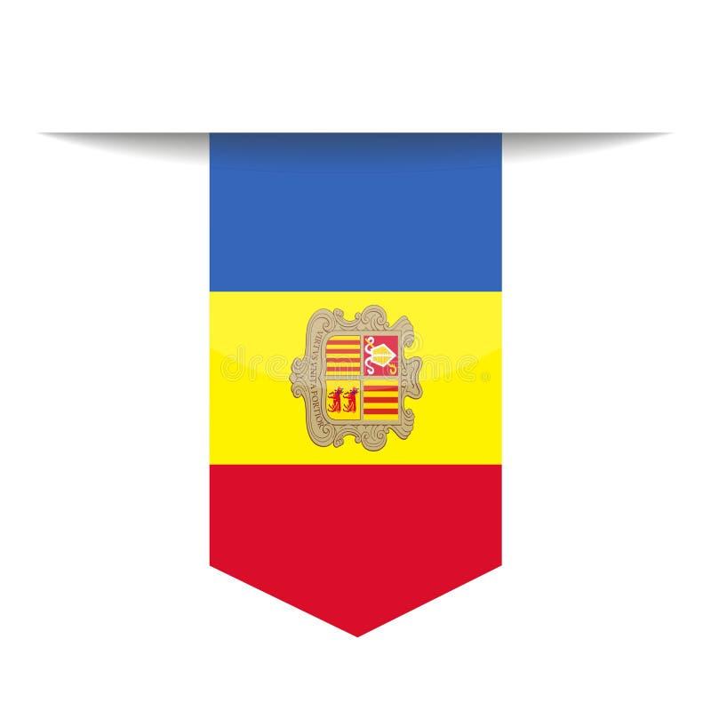 Pictogram van de de Vlag het Vectorreferentie van Andorra royalty-vrije illustratie