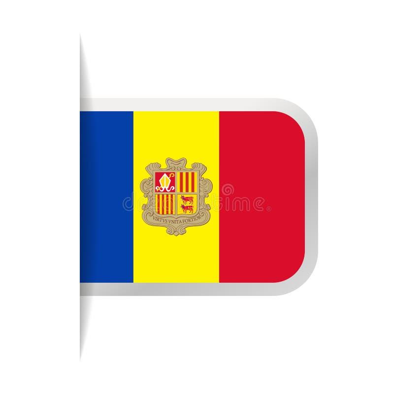 Pictogram van de de Vlag het Vectorreferentie van Andorra vector illustratie