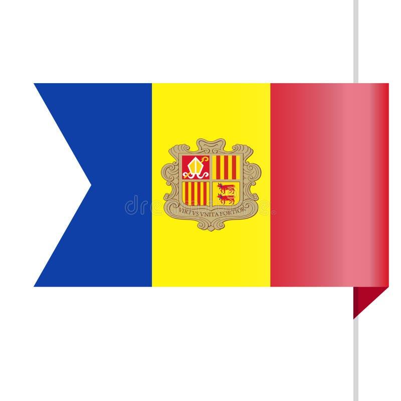 Pictogram van de de Vlag het Vectorreferentie van Andorra stock illustratie