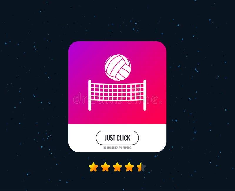 Pictogram van de volleyball het netto bal Het symbool van de strandsport Vector vector illustratie