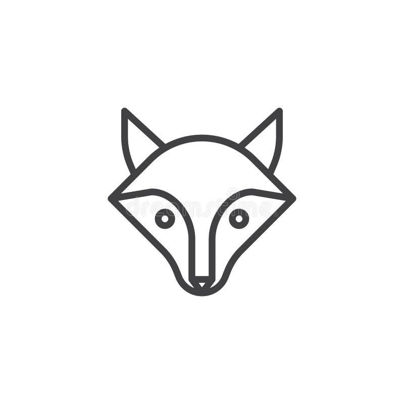 Pictogram van de vos het hoofdlijn royalty-vrije illustratie