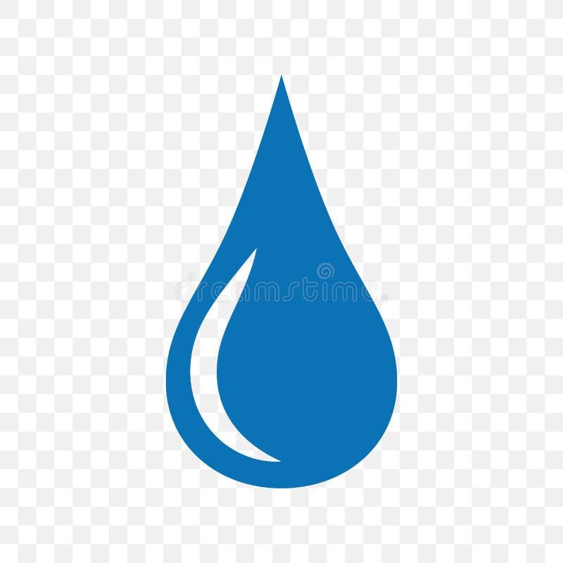 Pictogram van de water het blauwe daling Symbool en teken vectorillustratieontwerp stock illustratie