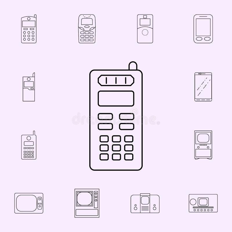 pictogram van derde generatie het mobiele telefoons Voor Web wordt geplaatst dat en het mobiele algemene begrip van generatiepict vector illustratie