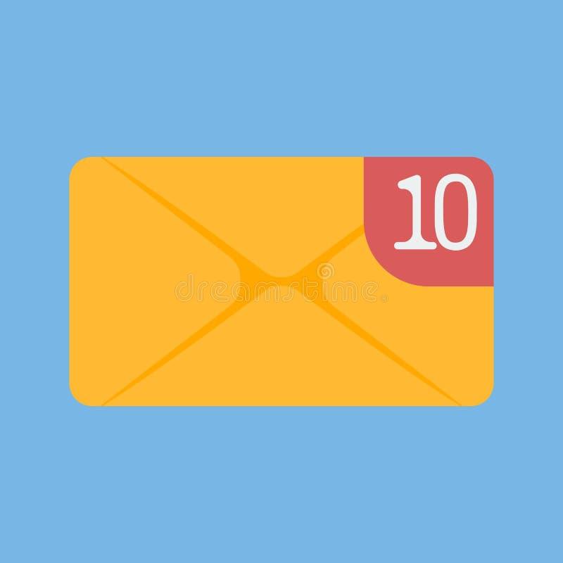 Pictogram van een binnenkomend bericht, e-mail vector illustratie