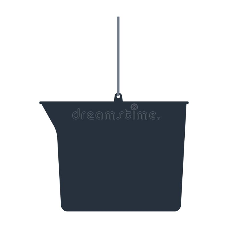 Download Pictogram van emmer vector illustratie. Illustratie bestaande uit borstel - 107703244