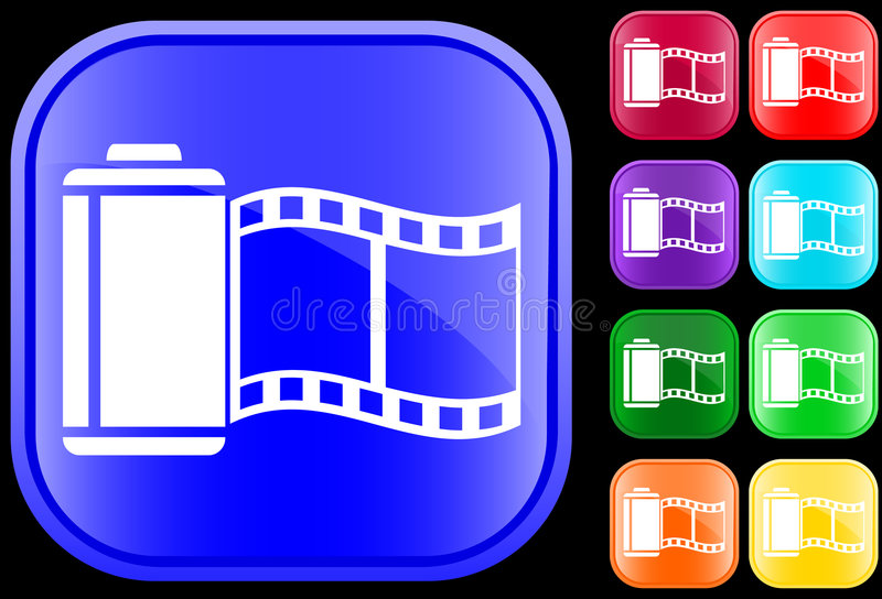 Pictogram van film vector illustratie
