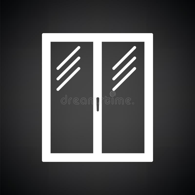 Pictogram van gesloten raamkozijn vector illustratie