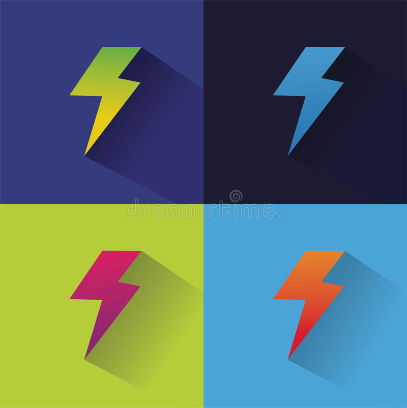 Pictogram van het bliksem het abstracte embleem voor ontwerp royalty-vrije illustratie