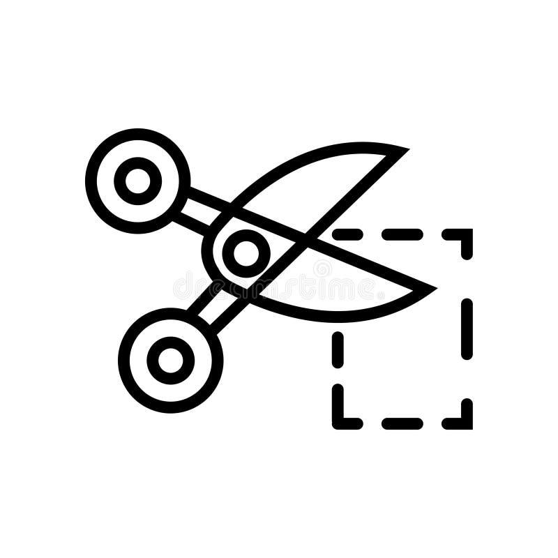 Pictogram van het de illustratiesymbool van de coupon het zwarte lineaire coupon vector stock illustratie