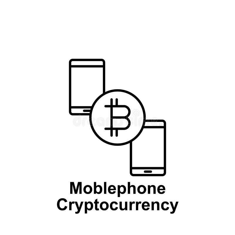 Pictogram van het de veranderingsoverzicht van de Bitcoin het mobiele telefoon Element van de pictogrammen van de bitcoinillustra stock illustratie