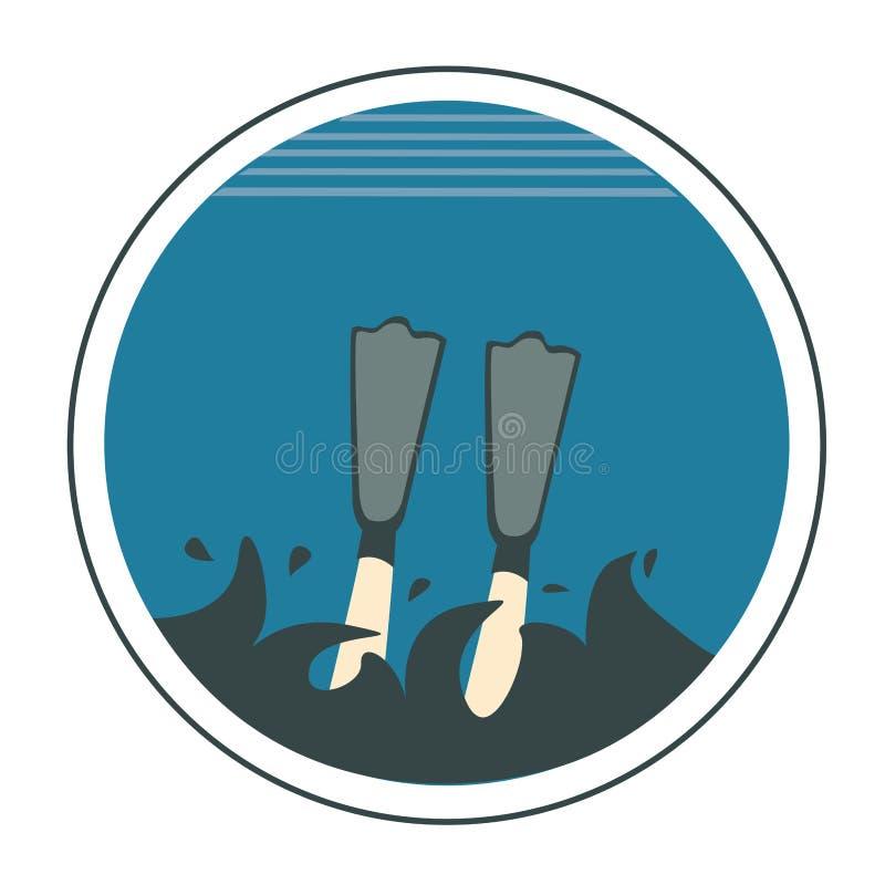 Pictogram van het duiken vector illustratie