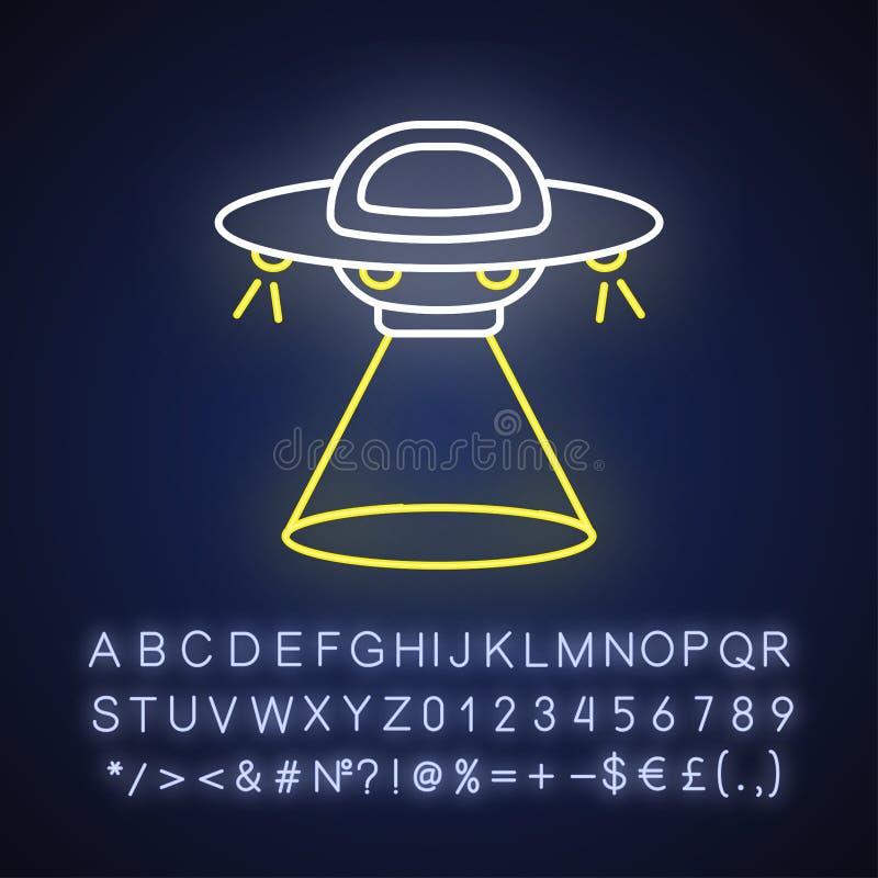 Pictogram van het fictie-neonlicht vector illustratie