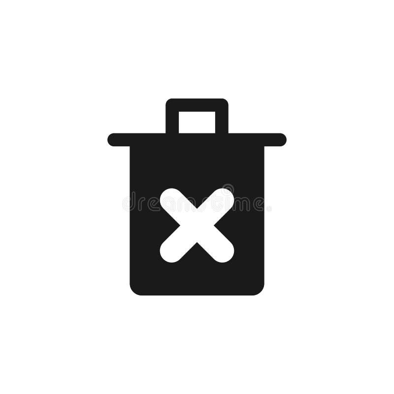pictogram van het gebruikers het dwarsafval De tekens en de symbolen kunnen voor Web, embleem, mobiele toepassing, UI, UX worden  royalty-vrije illustratie