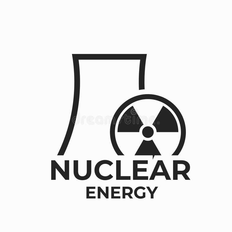 Kerncentrale. Kerncentrale - Symbool Voor Energie En Elektriciteit.  Geïsoleerd Vectorbeeld Vector Illustratie - Illustration of element, bouw:  212564242