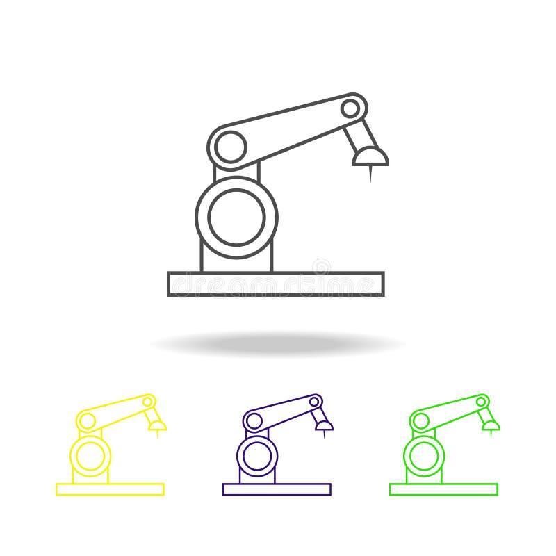 pictogram van het robot multicolored overzicht Element van populair robotpictogram Tekens, het pictogram van de symboleninzamelin stock illustratie