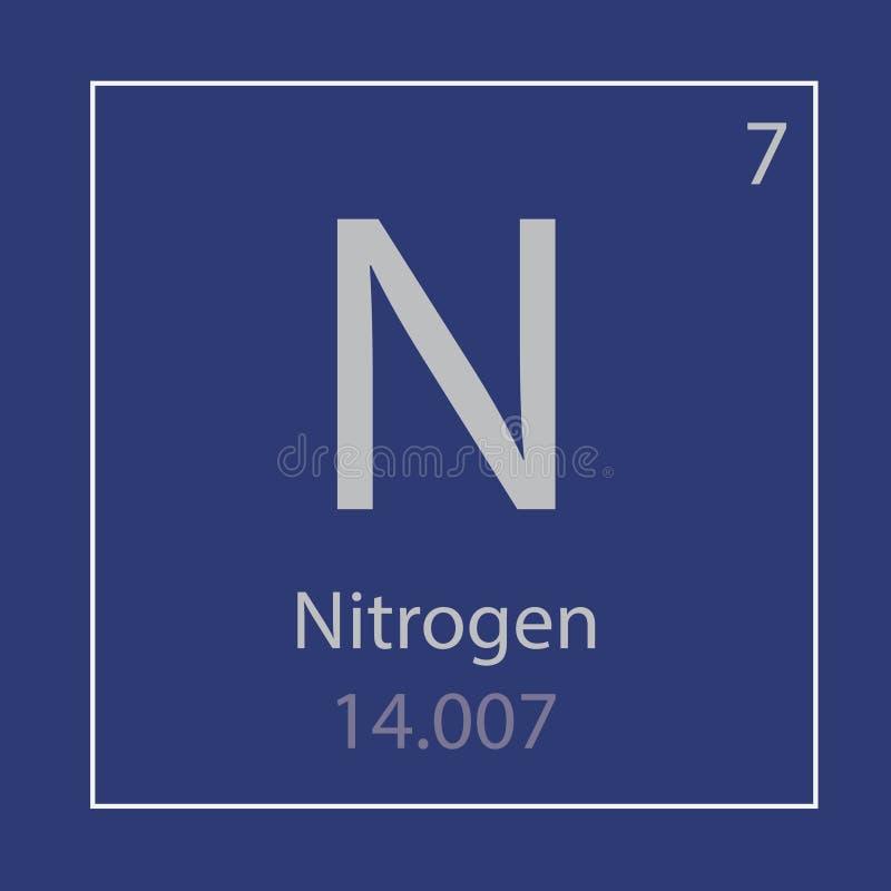 Pictogram van het stikstofn het chemische element vector illustratie
