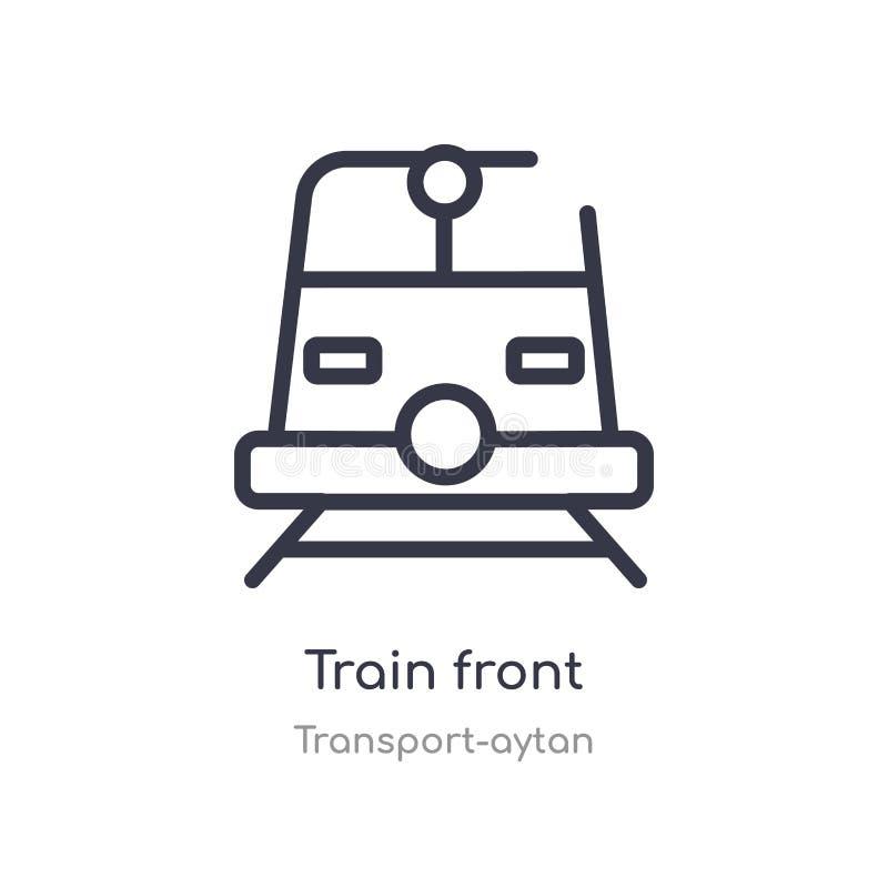 pictogram van het trein het vooroverzicht E het editable dunne voorpictogram van de slagtrein royalty-vrije illustratie