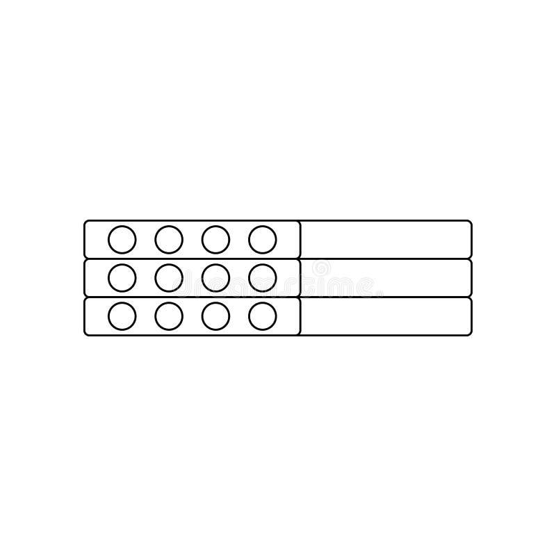 pictogram van kleuren het concrete platen Element van bouwhulpmiddelen voor mobiel concept en webtoepassingenpictogram Overzicht, royalty-vrije illustratie