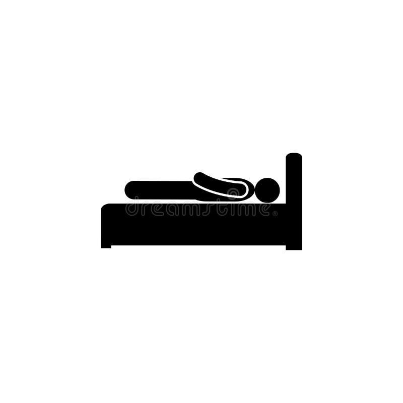 Pictogram van mensen het dode glyph Element van het pictogram van de Ontwikkelingsillustratie De tekens en de symbolen kunnen voo royalty-vrije illustratie