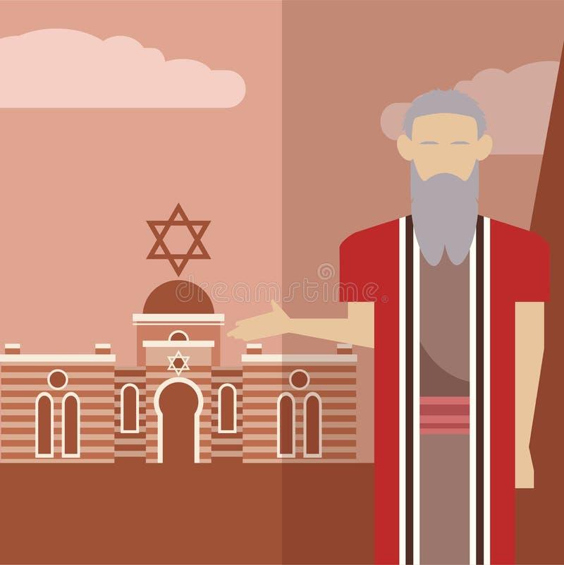 Pictogram 1 van Mozes royalty-vrije illustratie