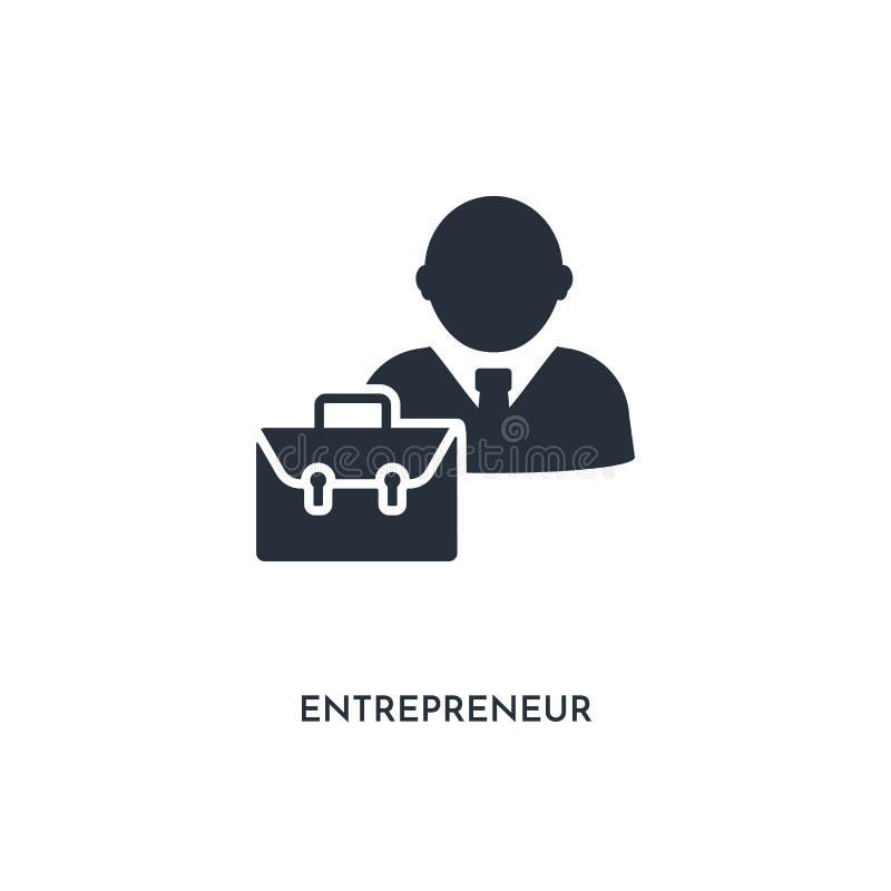 pictogram van ondernemer eenvoudige elementenillustratie geïsoleerd trendy gevuld ondernemerspictogram op witte achtergrond kan v royalty-vrije illustratie