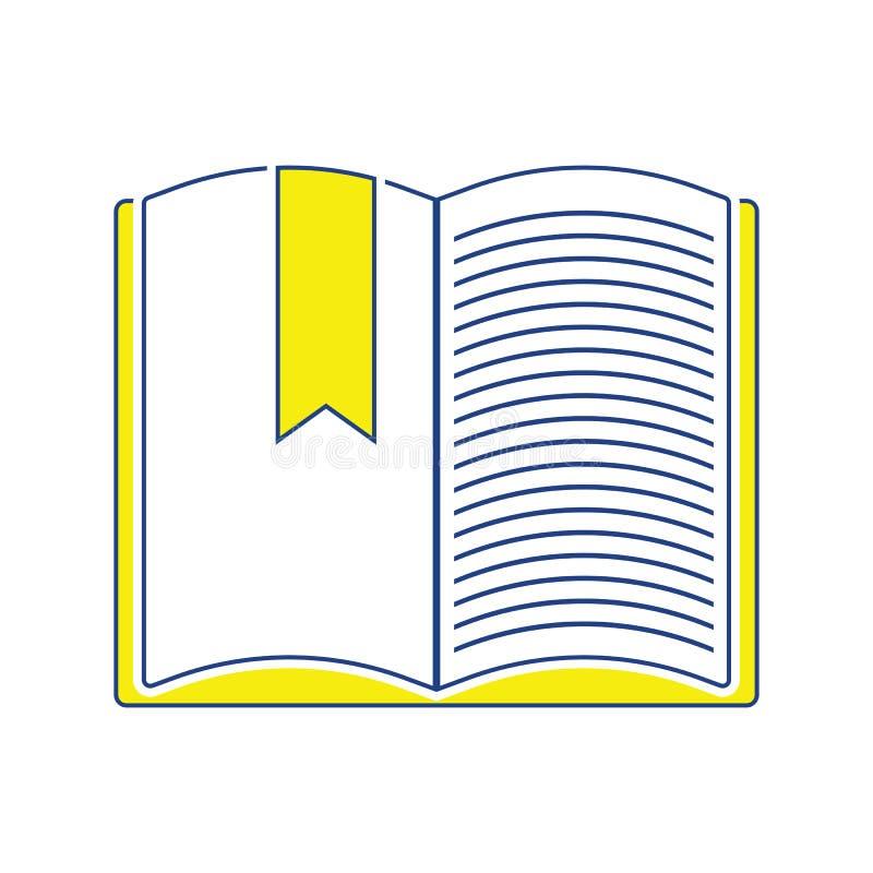 Pictogram van Open boek met referentie vector illustratie