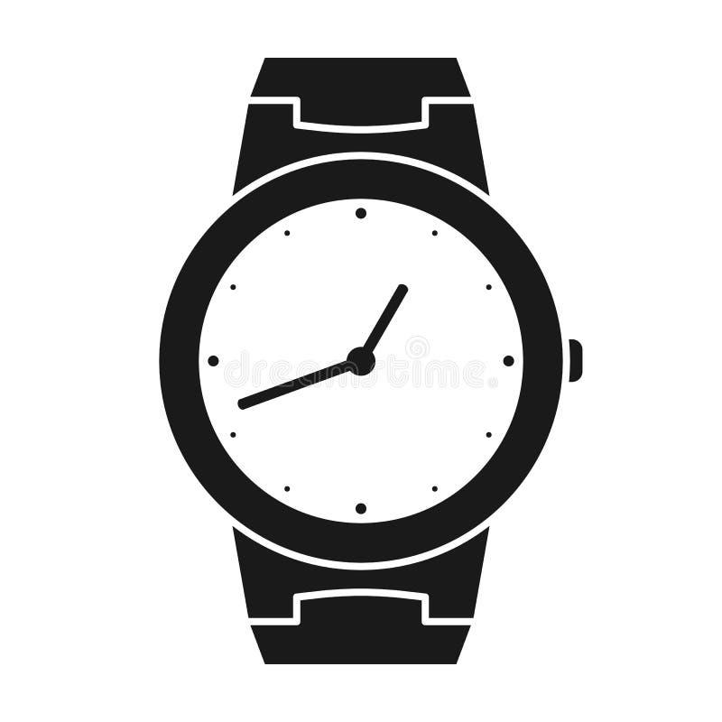 Pictogram van polshorloge Symbool van handklok Illustratie van timepiece, chronometer vector illustratie