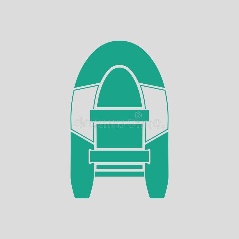 Pictogram van rubberboot royalty-vrije illustratie