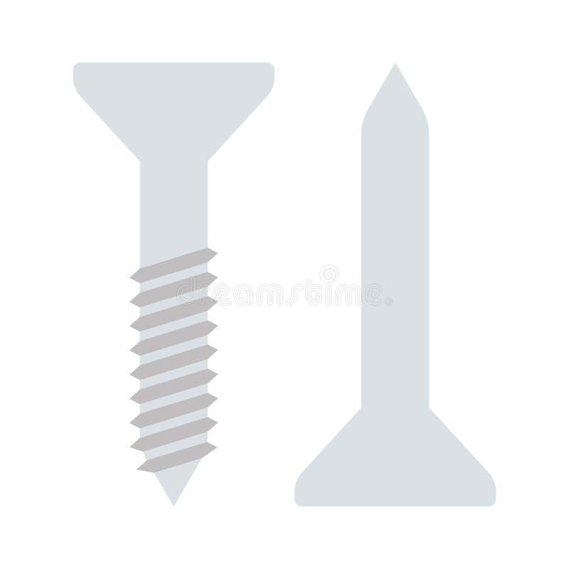 Download Pictogram Van Schroef En Spijker Vector Illustratie - Illustratie bestaande uit metaal, industry: 107703158