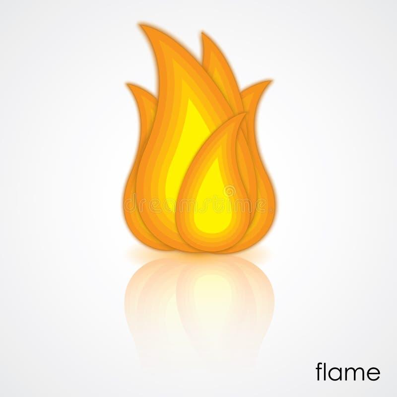 Pictogram van vlam royalty-vrije illustratie