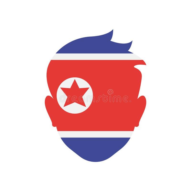 Pictogram vectordieteken en symbool het Noord- van Korea op witte backgr wordt geïsoleerd vector illustratie