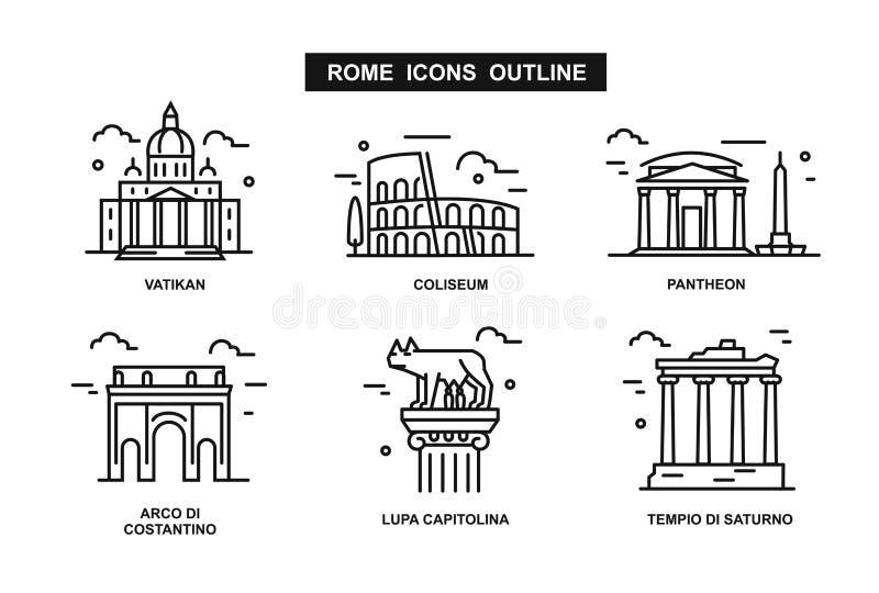 Pictogram vlak Rome vector illustratie