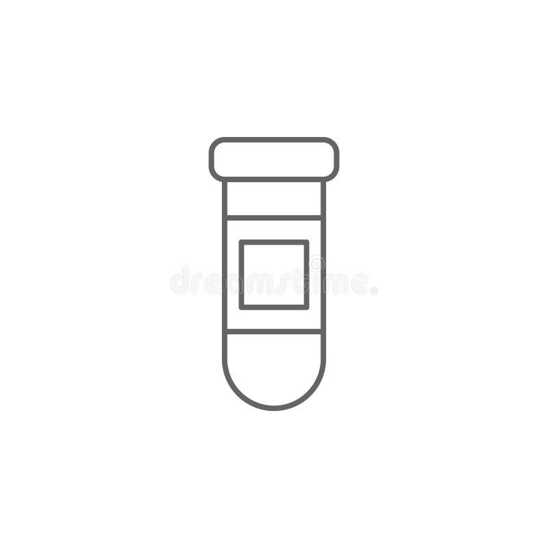 Pictogram voor medicijnpot, pil Pictogram van het geneesmiddel Thin line pictogram stock illustratie