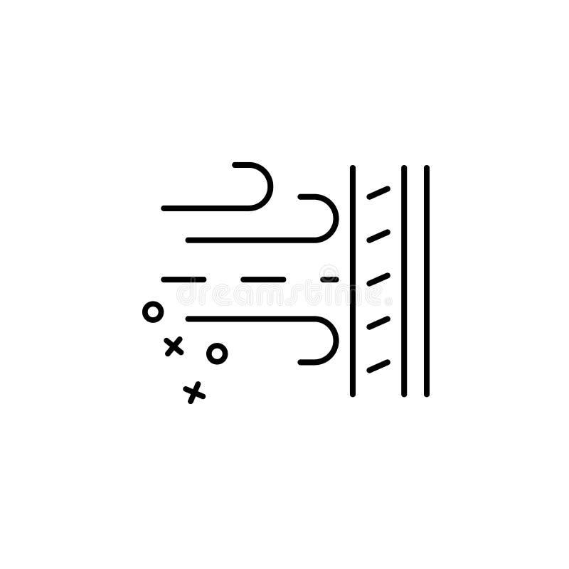 Pictogram voor onademlijke kleding Element van het pictogram van de eigenschappen van de stof royalty-vrije illustratie