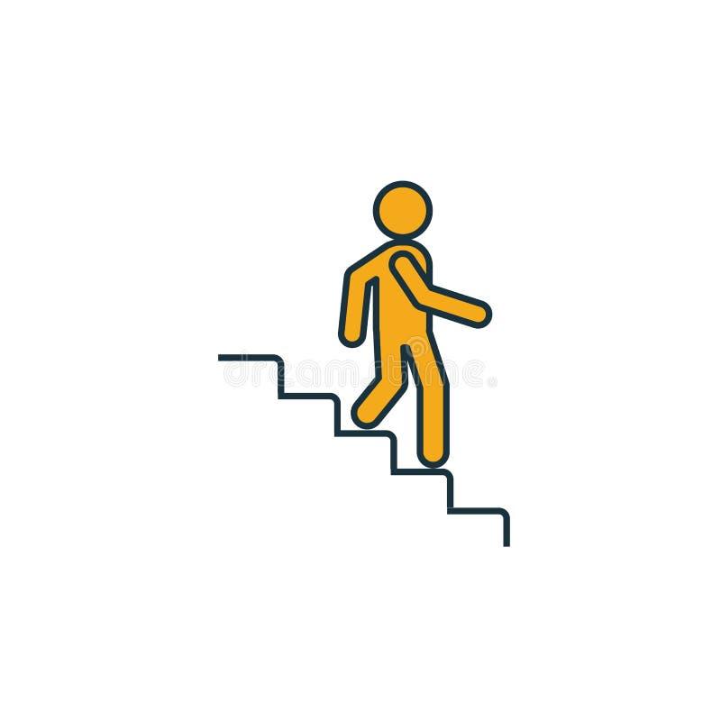 Pictogram voor stappen omlaag Eenvoudig element van het verzamelen van pictogrammen van winkelcentra Creative Stairs Down icon ui royalty-vrije illustratie