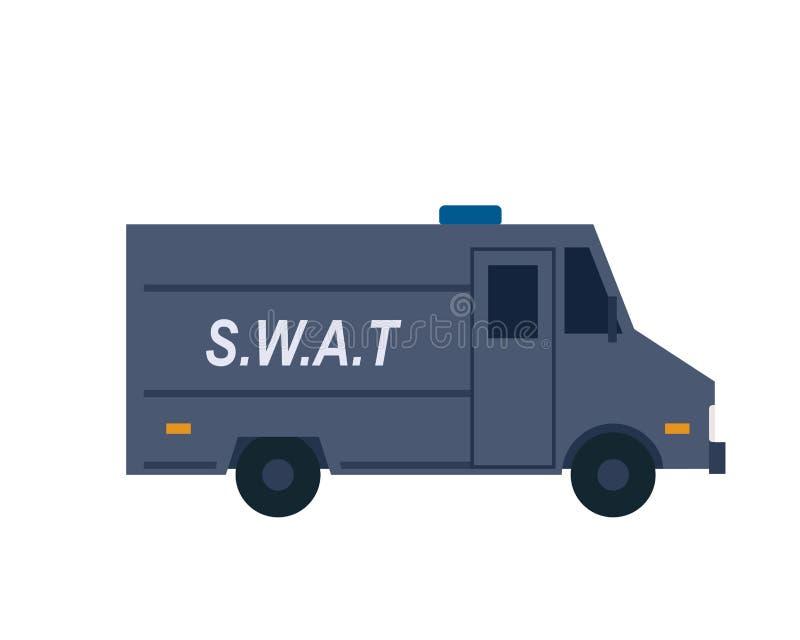 Pictogram voor vrachtwagen door politie stock illustratie