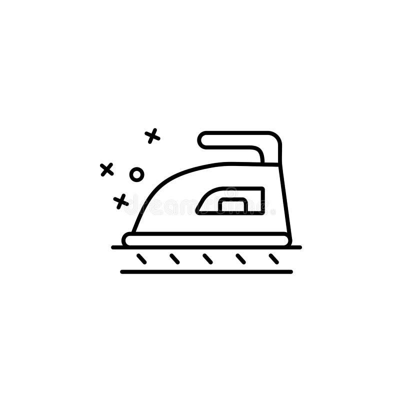 Pictogram wasgoed van textiel Element van het pictogram van de eigenschappen van de stof stock illustratie