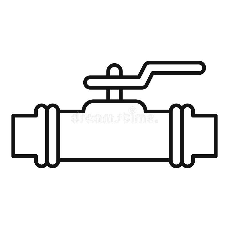 Pictogram waterkraan, contourstijl vector illustratie