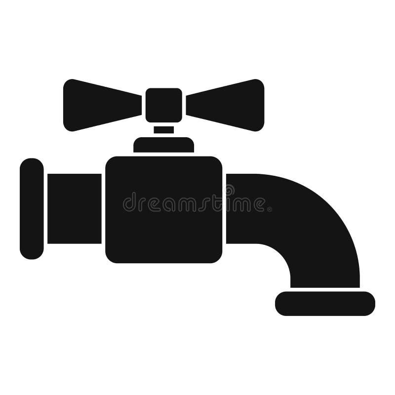 Pictogram waterkraan, eenvoudige stijl vector illustratie
