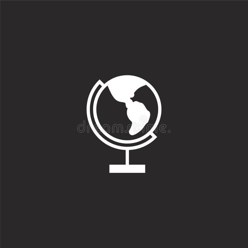 Pictogram wereldwijd Gevuld pictogram wereldwijd voor websiteontwerp en mobiel, app ontwikkeling pictogram wereldwijd van gevulde royalty-vrije illustratie