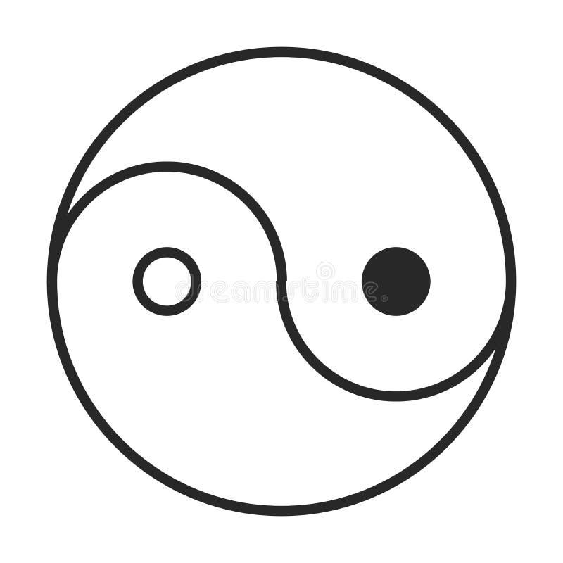 Pictogram yin-Yang royalty-vrije illustratie