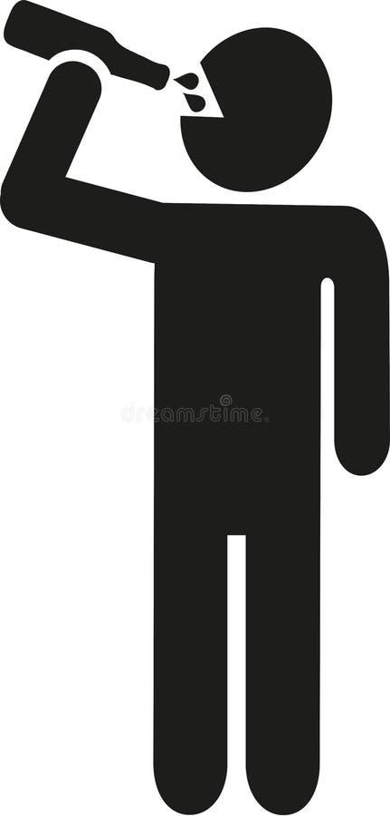 Pictograma bebendo do homem ilustração stock