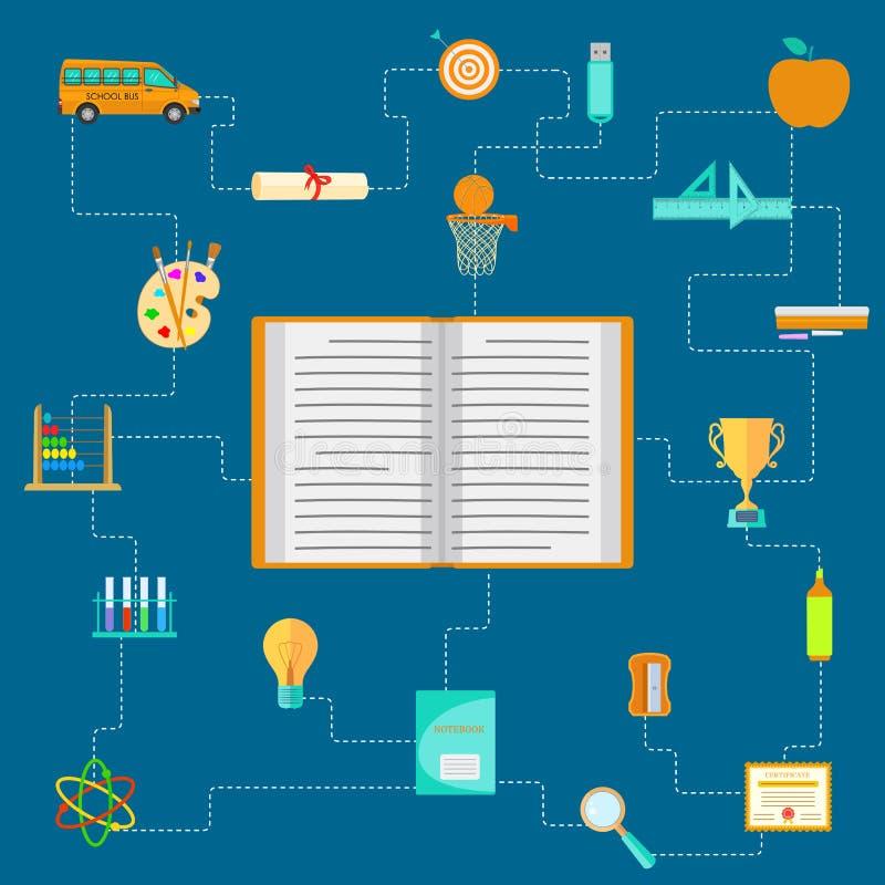 Pictograma da educação ilustração stock