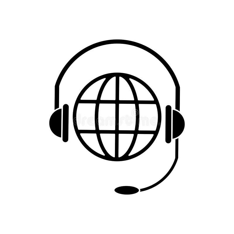 Pictograma de la comunicación del servicio de la cabeza del planeta del mundo libre illustration