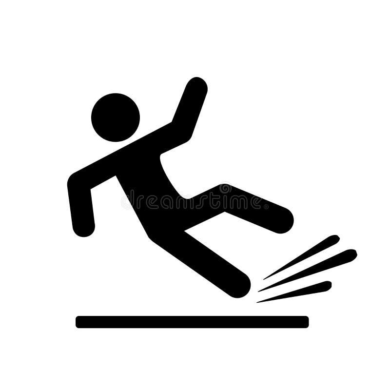 Pictograma de queda da silhueta da pessoa ilustração do vetor