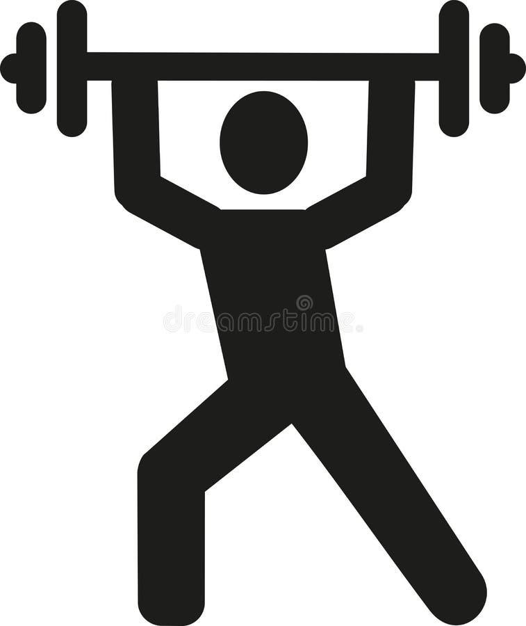 Pictograma del levantamiento de pesas ilustración del vector