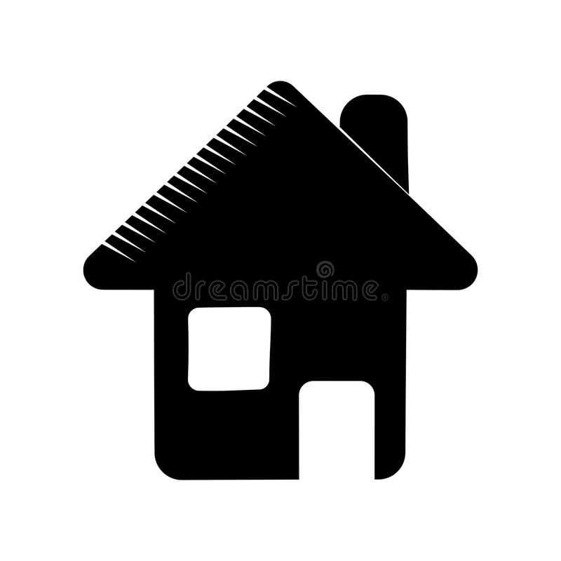 Pictograma del símbolo del web del Home Page libre illustration